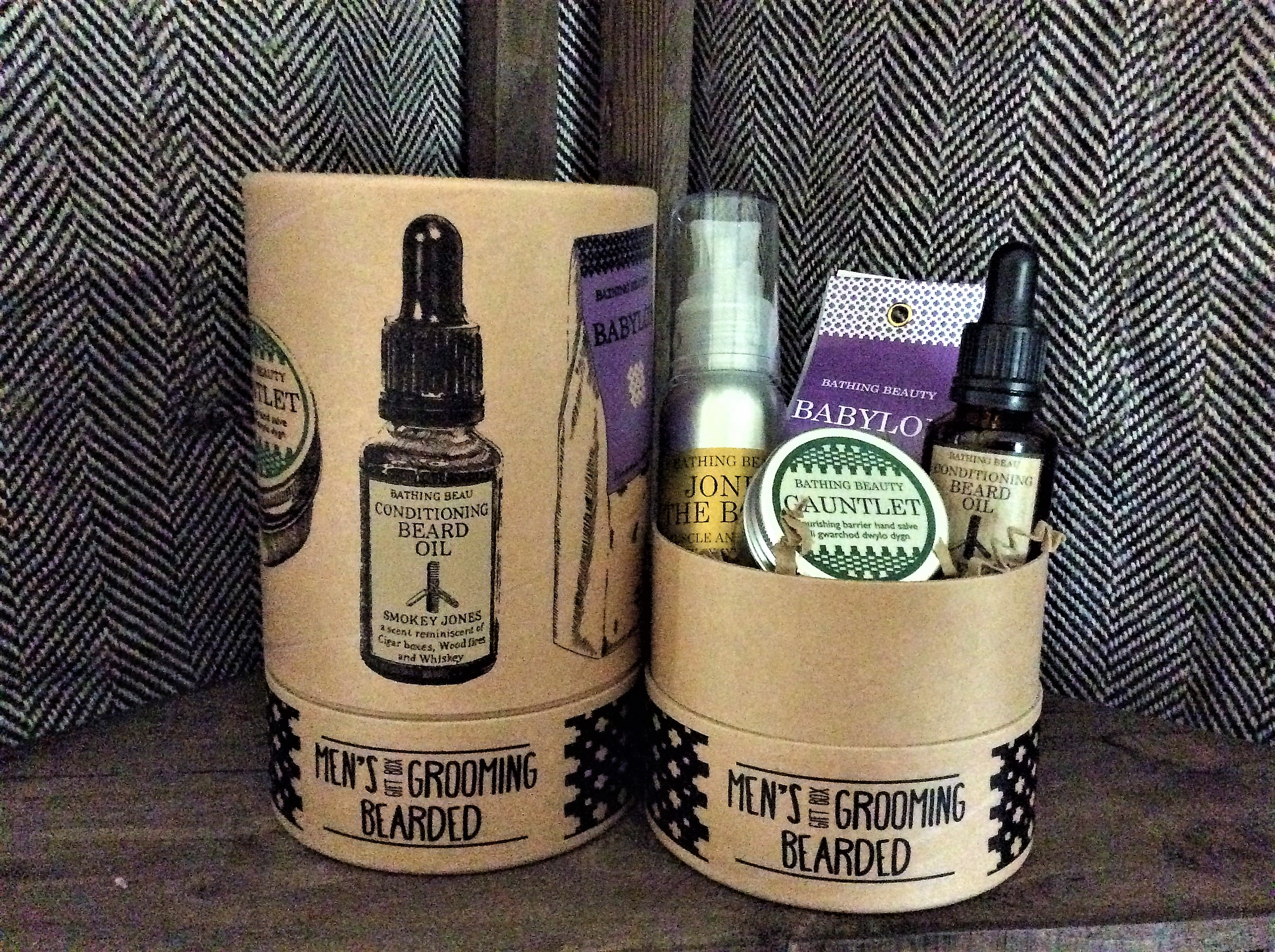 Complete set of award winning products for the bearded man