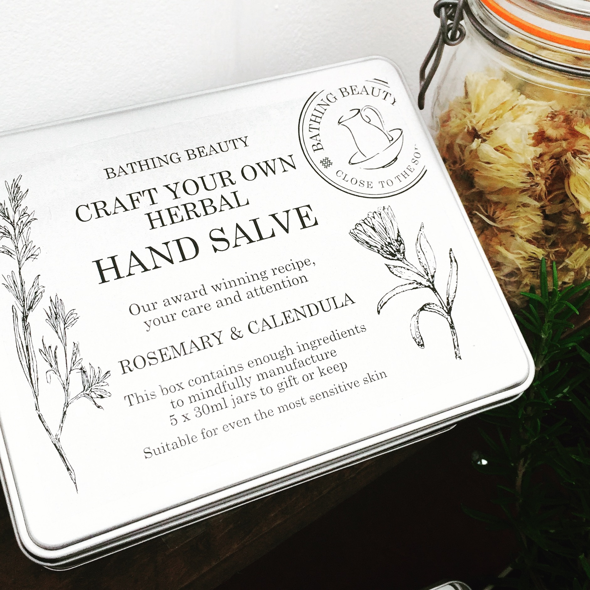 craft your own herbal handsalve gift tin