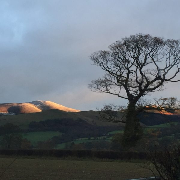 Day break over The Clwydians