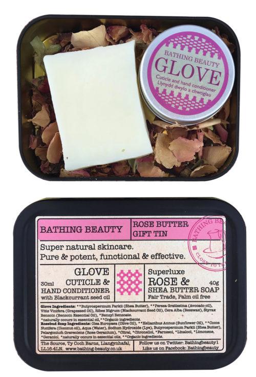 Rose butter gift tin