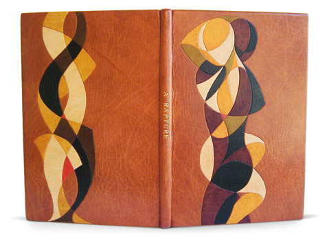 A hand Bound copy of A Rapture. Original Artwork, Design and Binding By Simeon Jones
