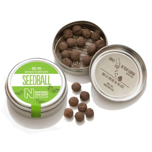 An image to show an open tin of Bird Mix seeds